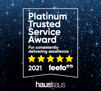 latest news haus & haus wins 'Platinum Trusted Service Award by feefo 2021' – For the 2nd year in a row