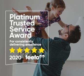 latest news Platinum Trusted Service Award by feefo