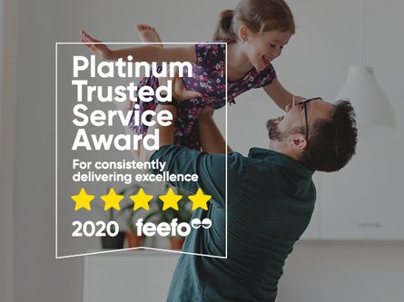 Platinum Trusted Service Award by feefo